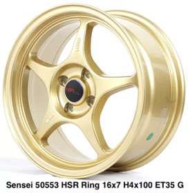 Velg Mobil SENSEI 50553 HSR R16X7 H4X100 ET35 GOLD