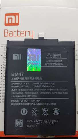 Baterai xiaomi redmi 3s | 4x BM47 gratis pasang