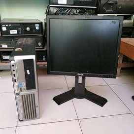 YANG ISTIMEWA Unit paket komputer LGA 775 mini pc  lcd monitor 17inc