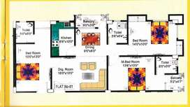 3 BHK Flat on sale , ready to move at 70 feet road off bypass