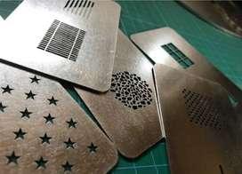 Custom plat besi laser cutting