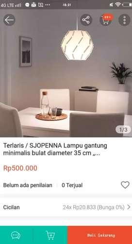 LAMPU SJOPENNA IKEA