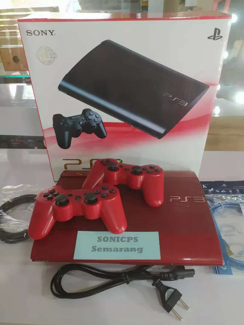 PS3 superslim RED 250gb full game