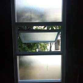Ready stok jendela kaca aluminium terbaik kualitas nya gan