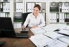Female computer accountant