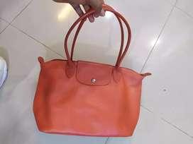 Tas Longchamp kulit asli