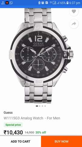 Guess watch 1 year use