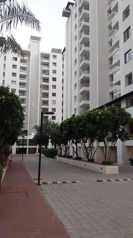 . Beautiful 3 bhk semi furnished highrise flat nearcm Ambika Township