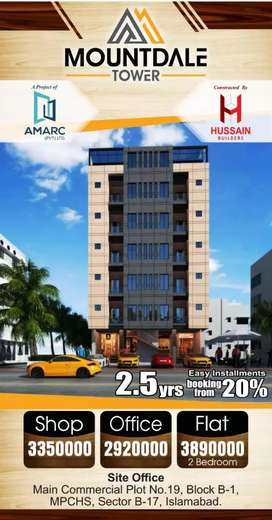 Flats on 20% down payment at B_17, MPCHS