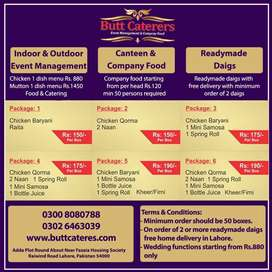 No. 01 Canteen and Company food supplier in Lahore