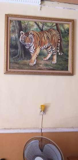 Lukisan cat kanvas karya pendik