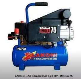 Kompresor Angin Lakoni Imola75 3/4HP 10L & Imola125 1HP 25L Baru BsCOD