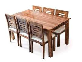 Arabia Sheesham Wood Six Seater Dining Table With Drawer Configuration