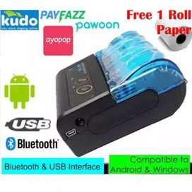 Mobile Printer Thermal Portabel Bluetooth USB Support Moka Pos