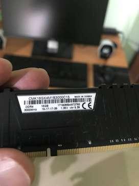16GB 3000 Mhz Corsair Vengeance LPX DDR4