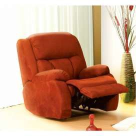 Red Fabric Recliner Sofa Chair. Unused.