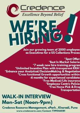 Urgently Hiring for CSE-International Voice-US Collections Process