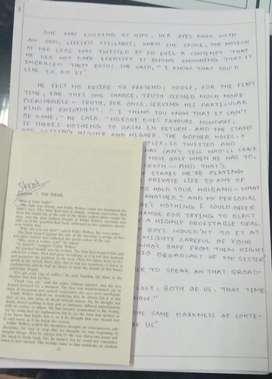 Simple handwriting work