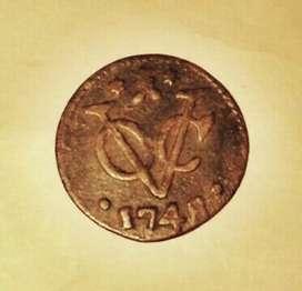 Old coin 1748 (VOC)