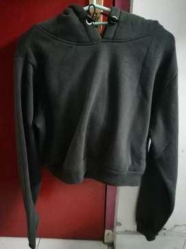 Crop top/ classic hoodie crop merk factorie
