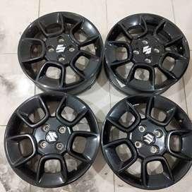 velg copotan murah bekas mobil ignis ring 15 lubang 4x100 et50 black