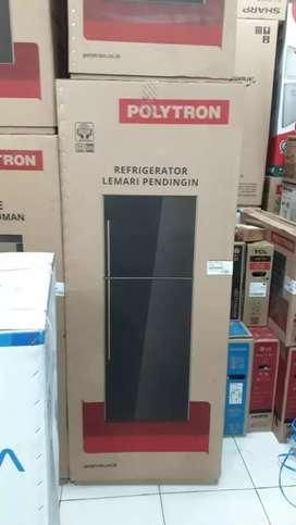 Kulkas pokytron 2 pintu belleza PRM23Q 230Liter