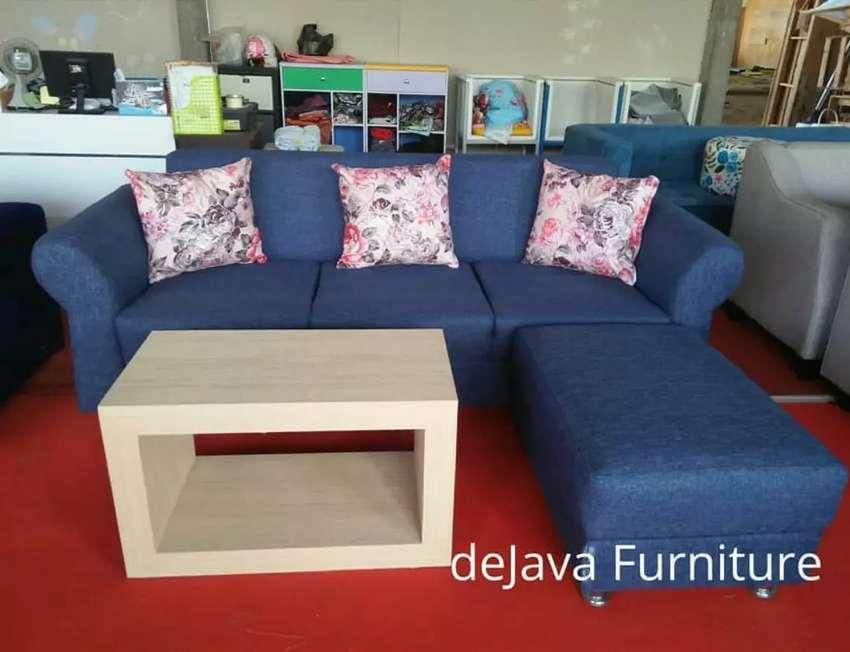 Open order.! Set sofa retro + puff panjang 0