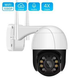 Car Security 1080P HD PTZ Security WIFI Camera Outdoor Dome Wireless I
