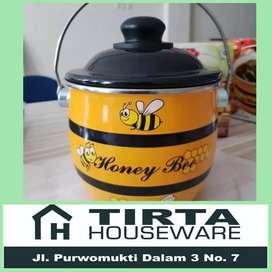 Panci Rantang Enamel Honey Be Pot Maspion 18 cm