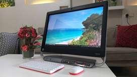 PC ALL IN ONE HP CORE i7 hardisk 1000 gb ram 8 layar sentuh 24 inci OK