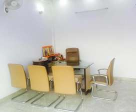 Office furniture with new havells wall fans, Inverter and split AC