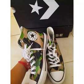 Sepatu Converse CTAS HI BLACK CAMO Original