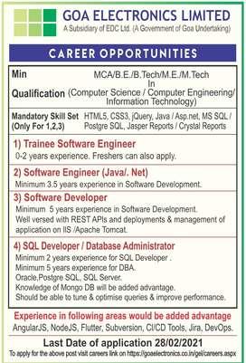 Hiring Software Developer - Goa Based Only