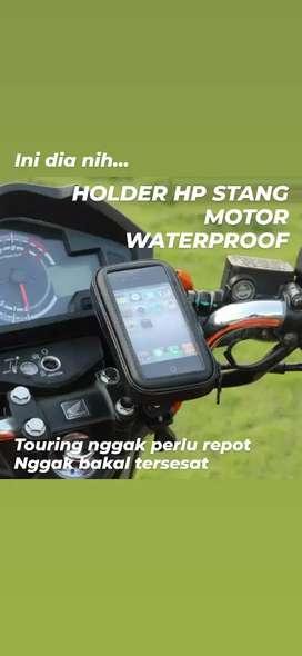 Holder Stang waterproof ANTI AIR 6.3inch Motor SPORT dan Sepeda Bike