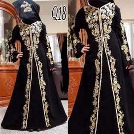 New Abaya Gamis Maxi Dress Arab Saudi Bordir Zephy Turki Haji Umroh