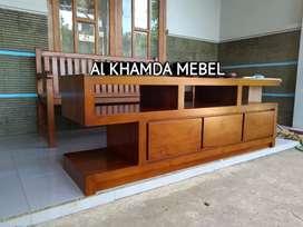 Ready Buvet Tv Minimalis Bahan Kayu Jati Monggo @498