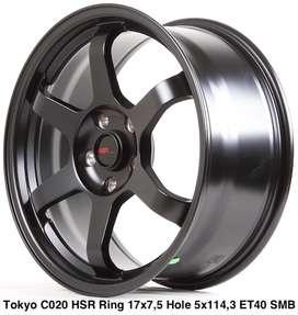 velg racing sports,TOKYO C020 HSR R17X75 H5X114,3 ET40 SMB