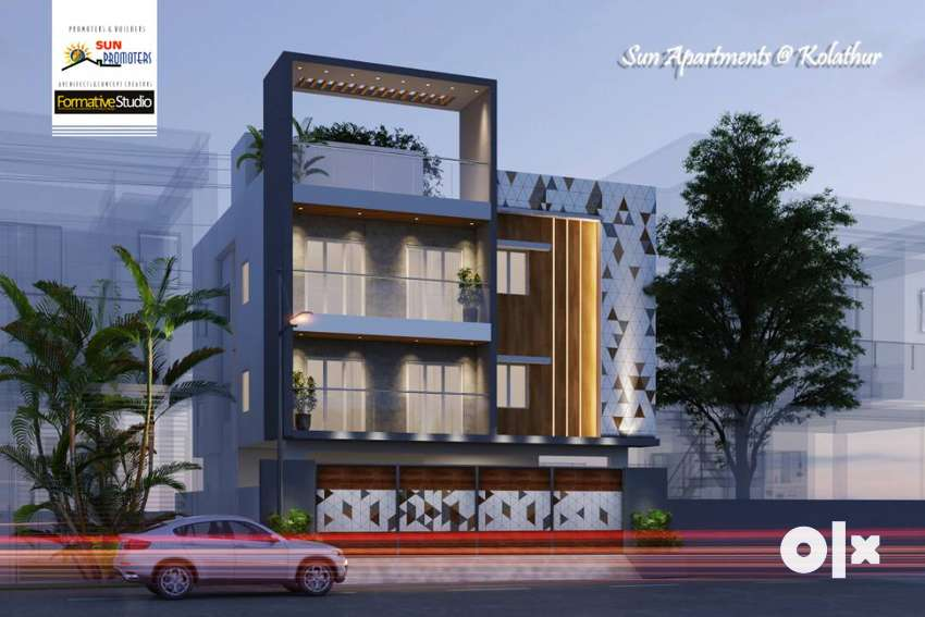 SPACIOUS 3BHK APARTMENT AT KOLATHUR NEAR EVERWIN SCHOOL 0