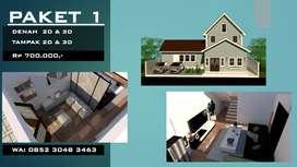 Desain Rumah/Gambar Kerja/Shop Drawing/DED/Design CAD dan 3D Modelling