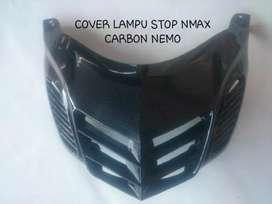 Cover lampu stop nmax hitam putih barang baru