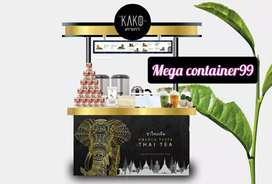 Booth container usaha Container jualan booth thai tea booth minuman ,