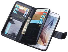 Wallet Case Samsung S6 Leather Case With 9 Card Slot 2 In 1 Magnet