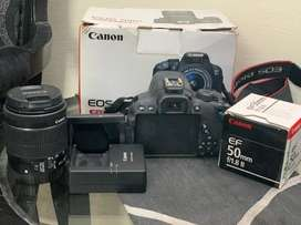 Canon 700 D with two lenses 10/10 used twice