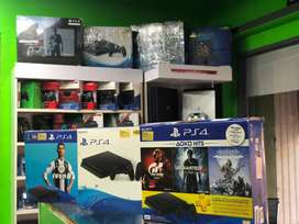 Ps4 console 500gb with one controller and warranty with games