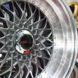 velg type RS  HSR Ring.16 Lebar.8-9 PCD.4X100-4X114,3 ET.37-22 GM