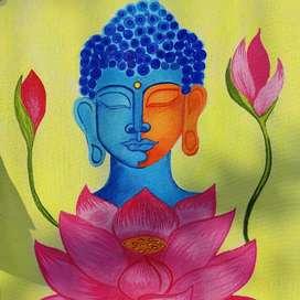 Handmade Acrylic Buddha Painting