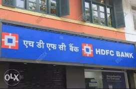 Urgent requirement for HDFC Bank male and female candidates...