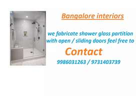 Glass partition ,Shower glass partition ,