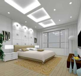 Plain Gypsum Board False Ceiling