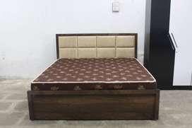 Brand New Palemo upholstered Storage Box Bed WDC-1068